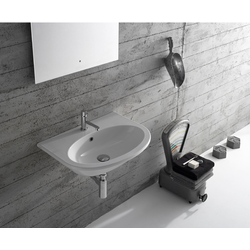 Basin arranged one tap hole, Wall-hung  Globo 4ALL