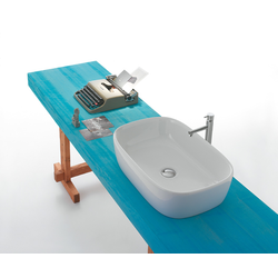 Sit-on basin Cod. GE045.BI Globo Le Pietre