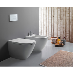 Floor mounted WC Cod. LA001.BI Globo Stockholm