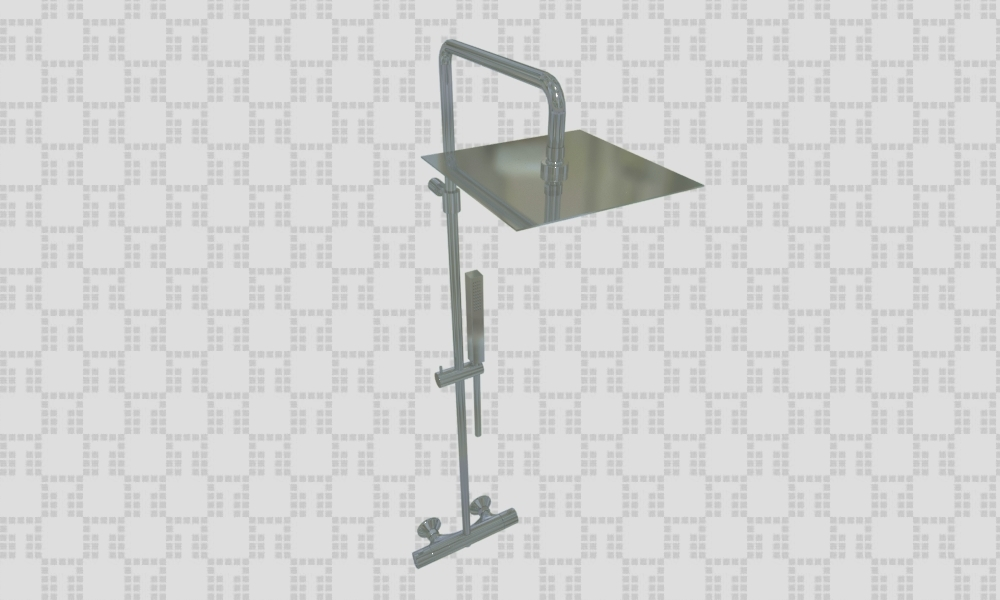 60625a External thermostatic anticalcareous mixer with cold body - Collection Shower by F.lli Frattini | Tilelook