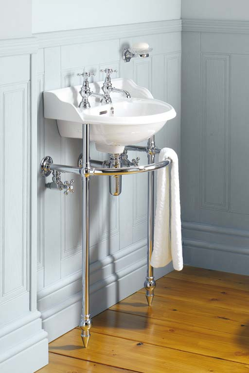 Victorian Heated Towel Rail Under Sink