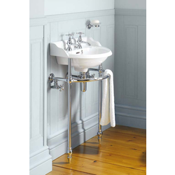 Victorian heated towel rail under sink Gentry Home Victorian
