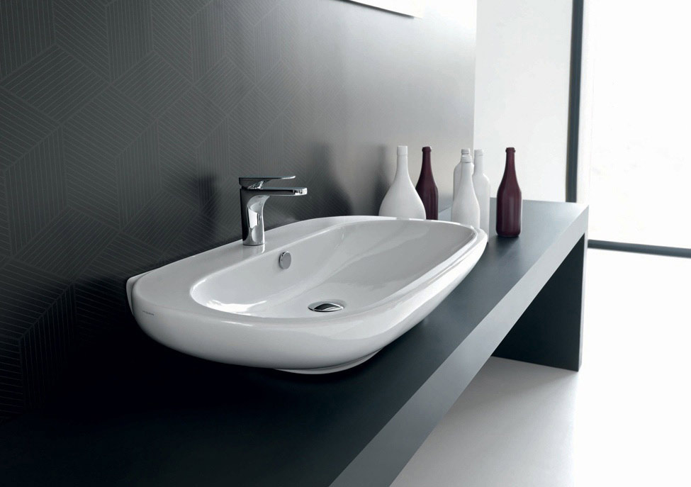 Hidra Ceramica Serie Abc.Lavabo Da Appoggio Collection Abc By Hidra Ceramica Tilelook