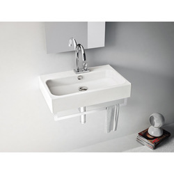 Block wall-hung / countertop washbasin 65 Art Ceram Block