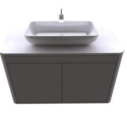 cabinet for washbasin (Hilos Cuerdas blanca) Fiora InTOUCH