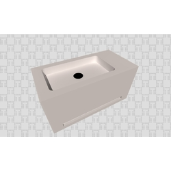 LAVABO COMPACT TOALLERO Bath The Solid Surface by Azulev LAVABOS