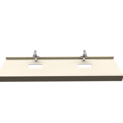 STRAIGHT CONSOLE FOR DOUBLE COUNTERTOP SINK Fiora Fontana