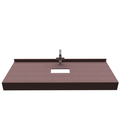 STRAIGHT CONSOLE FOR COUNTERTOP SINK Fiora Fontana