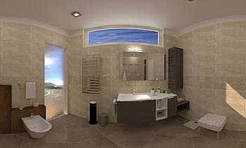 Bagno_v1 Classic Bathroom Maurizio Valvo