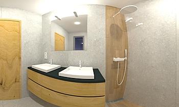 Salle d'eau Contemporan Baie nicolas vanopslagh