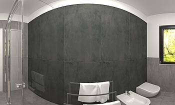 Marta bagno doccia Modern Bathroom luciana fasol