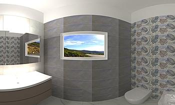 Bagno 1 (sopra) Modern Bathroom Piero Di Donato