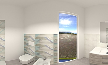 ANNARITA MANCA BAGNO CAME... Modern Bathroom Pier Giuseppe Busceddu
