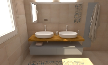 230 Contemporary Bathroom LONGO SRL Superfici & Arredo