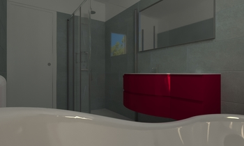 Meuble vasque bordeaux - ... Classico Bagno RAMBAUD Georges