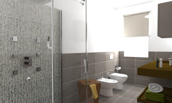 P127-bagno 01 Contemporary Bathroom Bovo Design