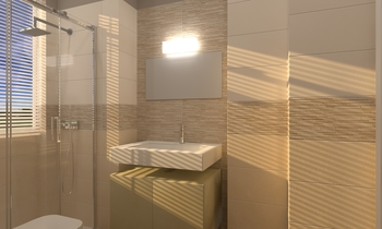 Bagno Concretus Beige Contemporary Bathroom  AmbienteBagno  Antichi
