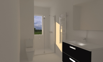 baño alquiler zona unives... Klasszikus Fürdőszoba ANDREA VELOSO CERREDELO