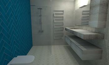 HB 1 Classic Bathroom tile works design