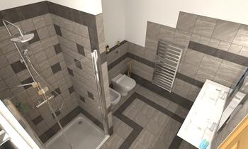 bagno Francia con doccia,... Classic Bathroom Claudio CAIAFFA