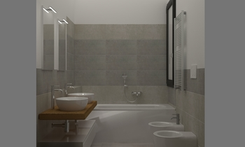 bagno vasca Contemporary Bathroom Rossella Spada