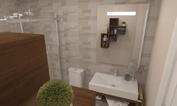 Baño Planta Primera Modern Baie Comercial Cortazar Diseños personalizados