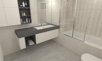 Baño 01 Trident Taupe y T... Classic Bathroom Grupo DCC3000