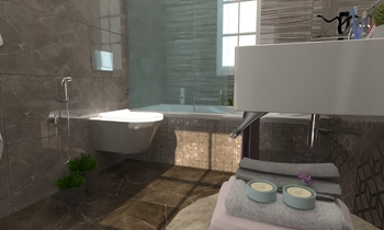 living bathroom Moderne Salle de bain Zarrugh Company