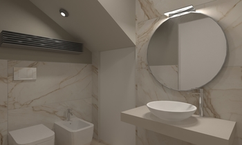 Bagno Seminterrato Contemporary Bathroom  AmbienteBagno  Antichi