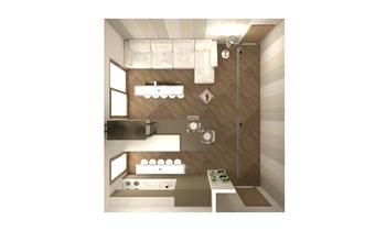 CUCINA-LIVING Contemporary Bathroom Titti Palumbo