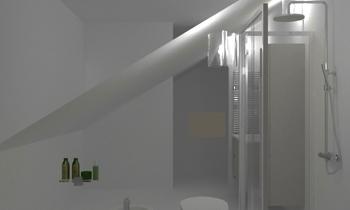 Bagno mansardato 4,56 x 2... Classic Bathroom Giulietta Tiengo