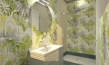 Bagno Jungle2 Tropical Bathroom  AmbienteBagno  Antichi