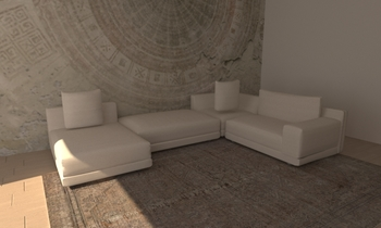 muestra Classic Living room Natuzzi Italia Store Bilbao