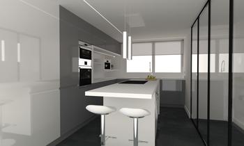 Cocina salón casa 3 Classic Living room Aurum  Construcciones