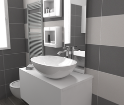 Tilelook: bagno con antibagno uso lavanderia rif. V.S.