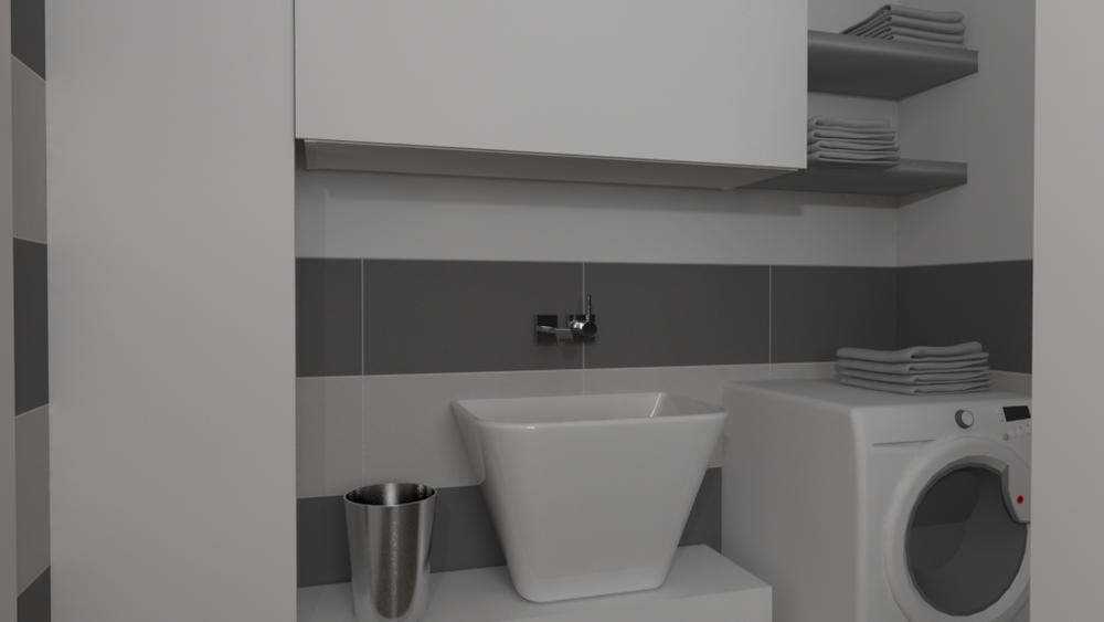 Tilelook bagno con antibagno uso lavanderia rif v s - Bagno con antibagno ...