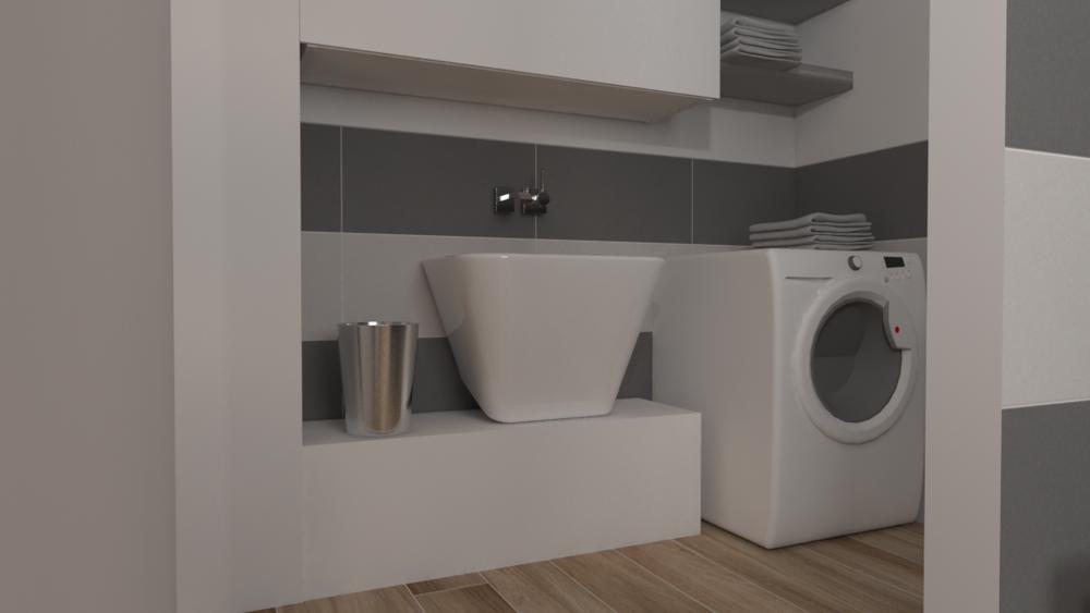 Tilelook bagno con antibagno uso lavanderia con variante - Bagno con antibagno ...