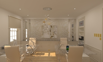 Oficina 4 mesas Classic Studio Aurum  Construcciones