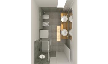 bagno 1 Contemporary Bathroom EF Superfici srl