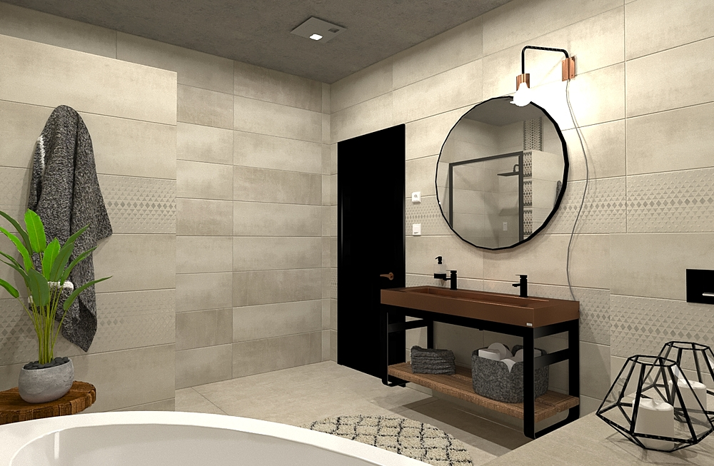Pe.D Bathroom 2- TAU- Cha... Modern Bathroom Terrakotta  Csempecentrum