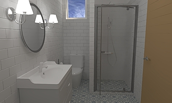 K.S kis fürdő zuhanyzóval... Classico Bagno Katinka Veress