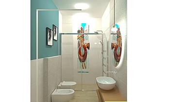 B&B app.piccolo - carta p... Modern Bathroom FABBRI IDROTECNOTERMICA srl FABBRI