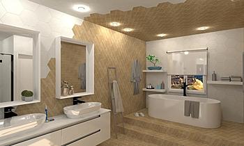 Bany fusta 1 Moderne Salle de bain BdB GARMON MORELLA S.L.