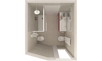 bagno camera Zeitgenosse Badezimmer EF Superfici srl