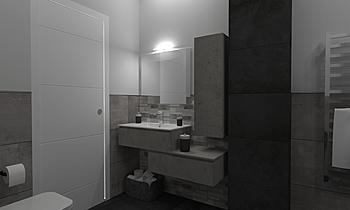 bagno camera Contemporary Bathroom Luana Cossu