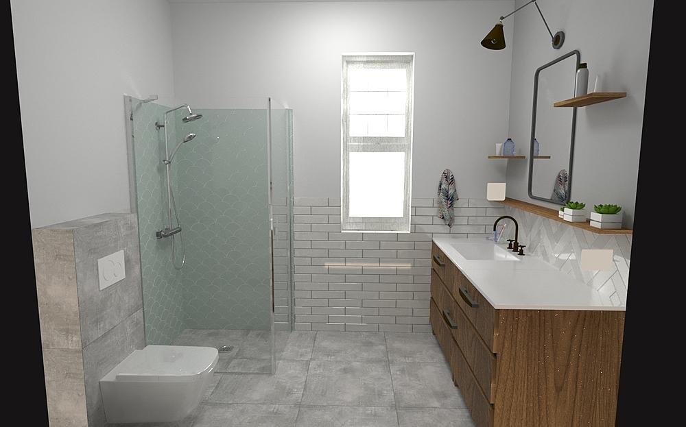Kata- Adult bathroom Modern Bathroom Terrakotta  Csempecentrum