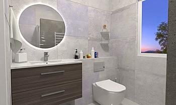Baño pequeño (small bathr... Contemporary Bathroom BdB  TELLO DE ARCO