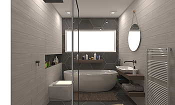 Proto 1 Classic Bathroom tile works design