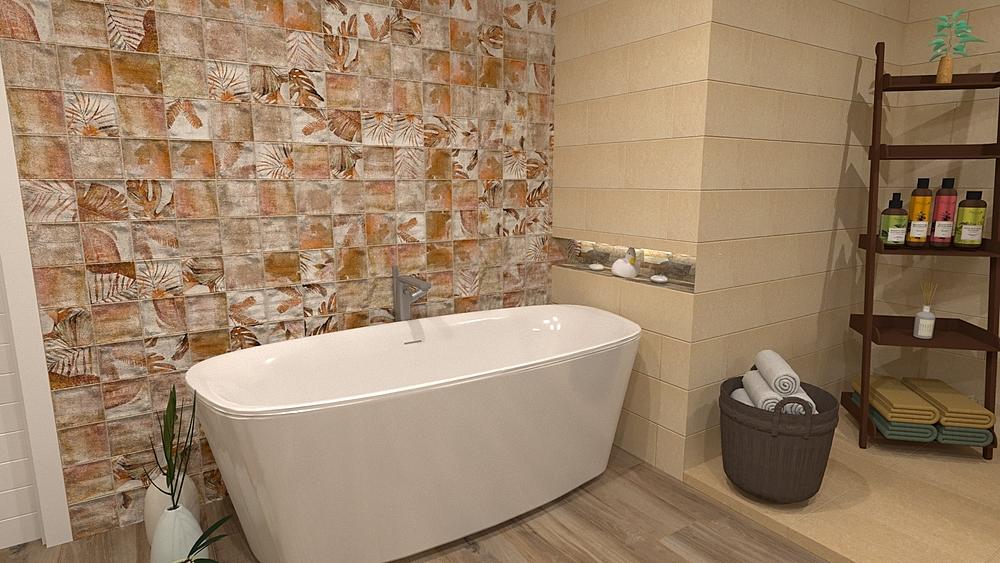 Baño grande beige (big be... Středomořský Koupelna BdB  TELLO DE ARCO