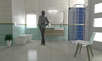 Demo RAKO Moderno Banheiro Rako Ceramics